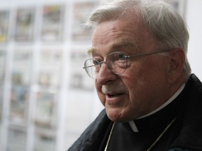Calgary Bishop Fred Henry is pictured in the Calgary Sun office in Calgary, Alberta on June 27, 2012.