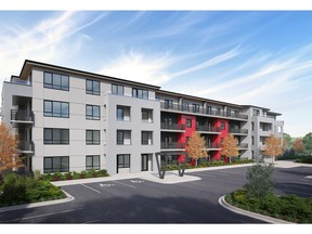 An artist's rendering of the front exterior for Maverick at Livingston by Avi Urban. Livingston is a new community in northwest Calgary by Brookfield Residential.