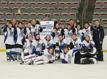 The Lake Bonavista Breakers 5 prevailed in the Pee Wee 10 division  at Esso Minor Hockey Week.