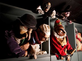 Some of the puppets you'll likely see when attending the Festival of Animated Objects.