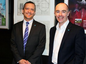 New principals at RJC Engineers' office in Calgary: Mark Bowen, left, and Chris Davis.