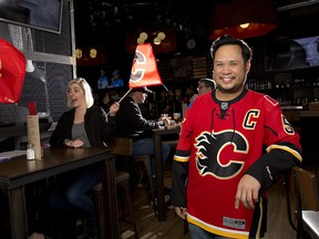 Ernie Tsu, owner of Trolley 5 restaurant and bar, says it's a dream come true to have five Canadian teams in the NHL playoffs.