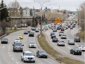 Crowchild Trail between Kensington Road and 5th Avenue N.W.
