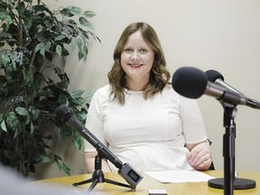 Ask Her board member Sarah Elder-Chamanara was photographed during a recording of The Confluence podcast on April 27, 2017.