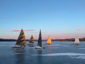Ice sailing on Ghost Lake in a scene from Horizon.