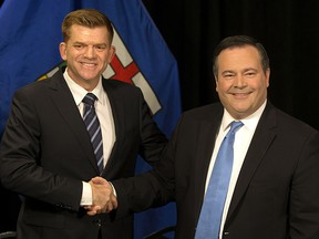Wildrose Leader Brian Jean and Progressive Conservative Leader Jason Kenney announce Thursday they have reached a deal to merge the parties.