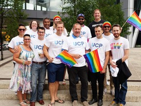Members of the United Conservative Party were on the sidelines for the Calgary Pride Parade on Sunday, Sept. 3, 2017. Supplied photo