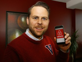 James Costello uses Airbnb to rent out his two-bedroom condo in downtown Calgary.