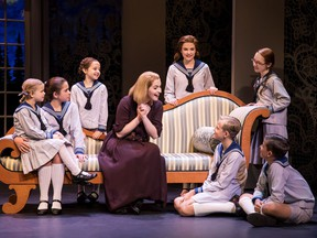 The Sound of Music will perform in Calgary Sept. 26 to Oct. 1 at the Jubilee.  Jill-Christine Wiley as Maria Rainer with the von Trapp family. Photos by Jeremy Daniel and Matthew Murphy