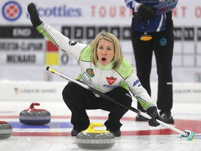 Cathy Overton-Clapham participates in curling, in Winnipeg.  Thursday, January 26, 2017.