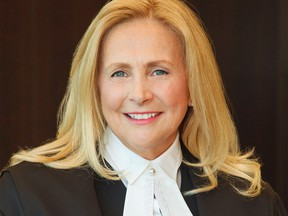 Justice Sheilah Martin is shown in a handout photo supplied by the Alberta Courts. Prime Minister Justin Trudeau has appointed Alberta-based judge Martin to the Supreme Court of Canada.THE CANADIAN PRESS/HO-Alberta Courts MANDATORY CREDIT