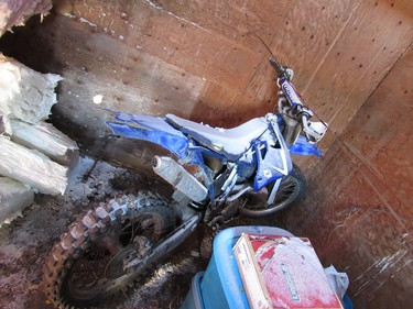 A motorcycle that was seized by the Calgary Police Service Centralized Break and Enter Teams during an operation that resulted in 108 charges being laid, 39 outstanding warrants executed and approximately $1.33 million worth of stolen property recovered. SUPPLIED PHOTO