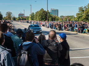 Canada's first test drive of an autonomous vehicle connected to live city infrastructure took place Oct. 12 in Kanata.