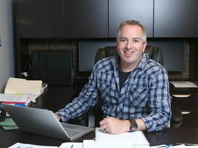 Darren Bondar, CEO and founder of Spiritleaf poses in his southwest Calgary office on Wednesday, January 3, 2018. Bondar says the Calgary-based company has had great success in attracting entrepreneurs willing to put up a $25,000 franchise fee to operate a cannabis retailing store under the company's name. Jim Wells/Postmedia