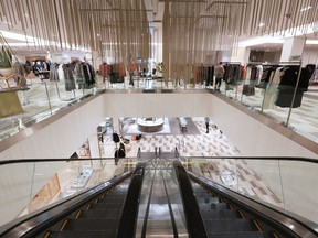 The interior of the new Saks Fifth Avenue store at Chinook Centre in Calgary. The store opens February 22.