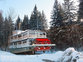 The S.S. Moyie sleeps at its winter dry dock in the trees at Heritage Park on Wednesday March 7, 2018. Gavin Young/Postmedia