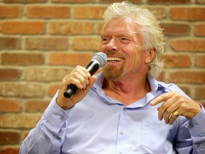 Sir Richard Branson during a panel discussion at Shopify in Ottawa Thursday (June 15, 2017). The panel convened to discuss why entrepreneurship in Canada is outdated and male dominated and what can be done to overcome that. Julie Oliver/Postmedia