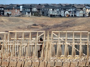 Construction on a townhouse project in Sage Hill in north Calgary.