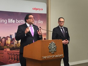 Finance Minister Joe Ceci met with Mayor Naheed Nenshi in Calgary Friday about moving ahead with a city charter.