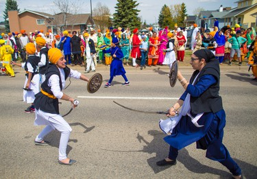 Thousands of Calgarians took part in the Nagar Kirtan Sikh Parade in northeast Calgary on Saturday May 12, 2018.