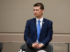 Calgary city councillor for ward 11 Jeromy Farkas listens during a council session on Monday June 25, 2018.  Gavin Young/Postmedia