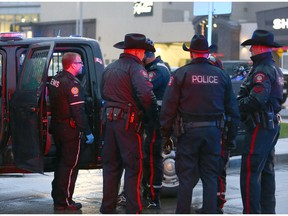 Calgry Police attend to a scene at Chinook Centre following reports of multiple assaults in southwest Calgary on Thursday, May 31, 2018. Jim Wells/Postmedia