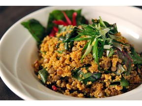 Curried Quinoa and Lentil Salad for ATCO Blue Flame Kitchen for July 11, 2018. Image supplied by ATCO Blue Flame Kitchen
