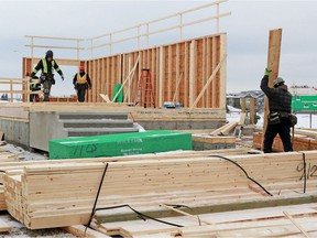 Multi-family construction starts are up in Calgary, notably in apartment-style condos downtown.
