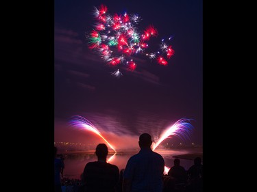 The opening night of the Globalfest Fireworks Festival celebrated Ukraine and lit up the sky above Elliston Park on Thursday August 16, 2018.