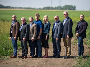 Builders and development partners joined Qualico Communities this week to mark the start of development at Dawson's Landing, a new community in Chestermere.