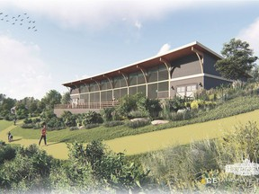 Rendering of the 3,000-square-foot Interpretive Centre proposed for Heritage Park. (Courtesy ACE Architecture)