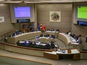 A view of Calgary council chambers on Sept. 24, 2018.