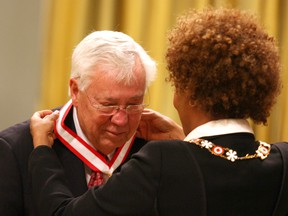 Clay Riddell receives the Order of Canada with Governor General Michaelle Jean on Nov. 5, 2009, in Ottawa.