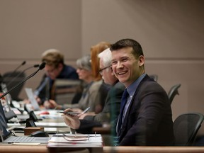 Jeromy Farkas, councillor Ward 11, during budget talks in Council Chambers on Wednesday November 29, 2017.