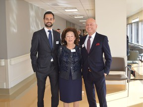 Pictured at the naming of the Zivot Limb Preservation Centre in honour of the donor, Dr. Mark Zivot (right), are proud family members Harrison Zivot and Rose Zivot.