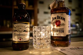 Budweiser Reserve Copper Lager is aged on actual Jim Beam bourbon barrel staves, previously used to age Jim Beam bourbon, giving the lager its distinctive aroma and hints of nuttiness.