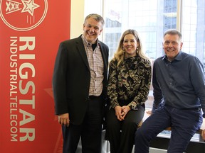 Rigstar co-founder Brent Grisdale, the company's new chief operating officer, Coralee Mazurek, and co-founder/president and CEO Dan Grisdale. Supplied photo, for David Parker column. December 2018
