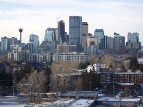 A view of downtown Calgary from Bridgeland on Thursday, Jan. 3, 2019.
