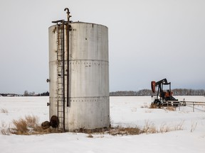The abandoned Redwater oil well site in Alberta on Thursday, Jan. 31, 2019.
