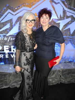 Glacial temperatures did't dampen the attendance nor enthusiasm at Calgary Opera's Valentine's Ball at the Fairmont Palliser. Pictured are ball co-chairs Sharie Hunter (left) and Jerilyn Wright. Funds raised will support the Calgary Opera Emerging Artist Development Program.