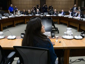 Jody Wilson-Raybould appears at the House of Commons Justice Committee on Parliament Hill in Ottawa on Wednesday, Feb. 27, 2019. THE CANADIAN PRESS/Sean Kilpatrick ORG XMIT: SKP124