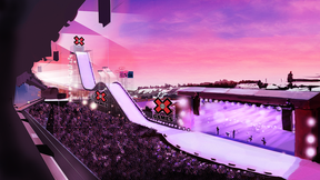 A rendering of what Stampede Park could look like if Calgary hosts the Winter X Games from 2020 to 2022.