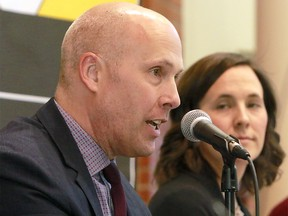 Greg Clark, Alberta Party Candidate for Calgary-Elbow takes part in a candidates' forum at Mount Royal University on Thursday, March 28, 2019.