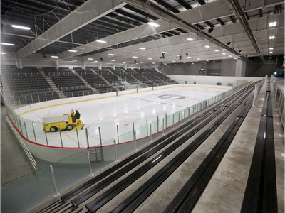 Arena one with seating for 2500 spectators at the Tsuut'ina Seven Chiefs Sportsplex and Chief Jim Starlight Centre was unveiled for Calgary media on Tuesday May 21, 2019. Gavin Young/Postmedia