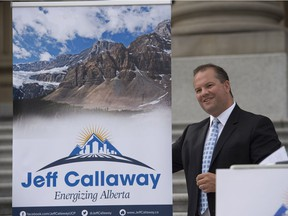 UCP leadership candidate Jeff Callaway in August 2017.