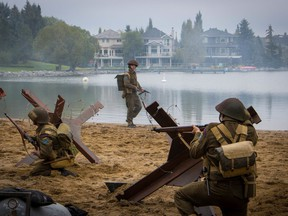 From the D-Day Heritage Minute, filmed on McKenzie Lake in Calgary. Courtesy, Historica Canada.