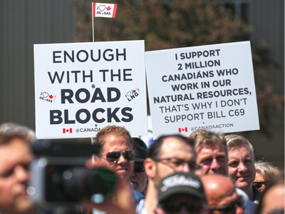Several thousand pro pipeline protesters rallied at Stampede Park during the Global Petroleum Show in Calgary on Tuesday, June 11, 2019. Gavin Young/Postmedia