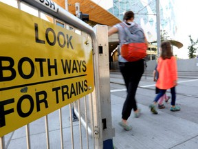 A city report looking at safety enhancements to at-grade LRT crossings suggests an education campaign and undefined annual capital funding.