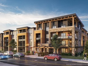 Bow360 is a condominium project that will offer 142 units split equally between two four-storey buildings on a unique circular site in Wolf Willow.