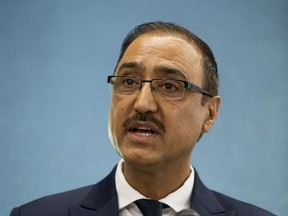 Natural Resources Minister Amarjeet Sohi, MP for Edmonton Mill Woods, spoke at an Edmonton Chamber of Commerce luncheon on Wednesday about the Trans Mountain pipeline expansion.